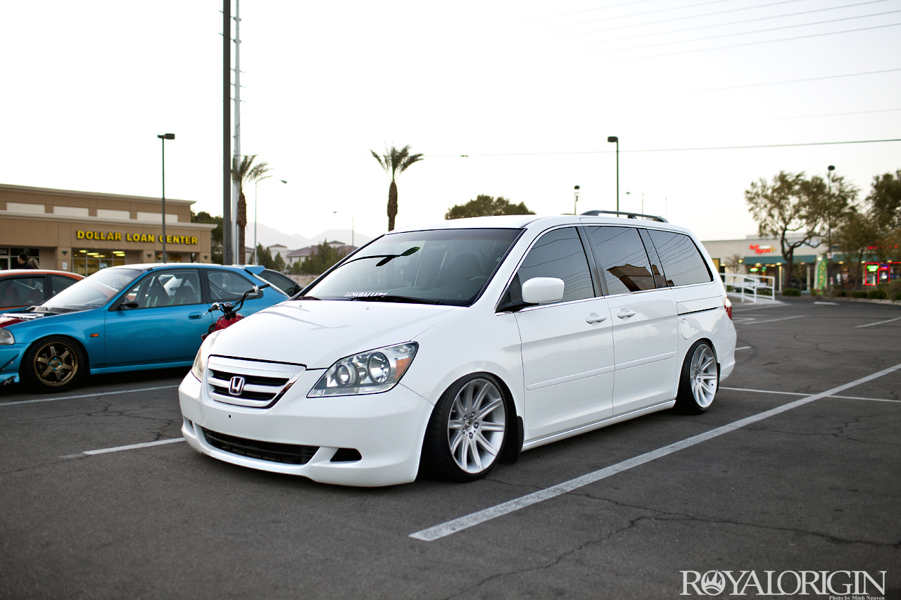 Even Mothers Have To Ride In Style Stanced Mini Van Inside